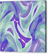 Abstract Waves Painting 007217 Acrylic Print