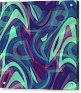 Abstract Waves Painting 007219 Acrylic Print