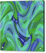 Abstract Waves Painting 007221 Acrylic Print