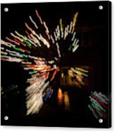 Abstracted Christmas - Luminous Fairy Lights Patterns Acrylic Print