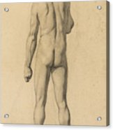 Academic Nude, Seen From The Back Acrylic Print