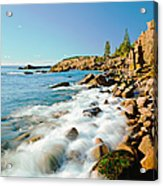 Acadia National Parks Rocky Atlantic Acrylic Print