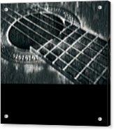 Acoustic Guitar Musician Player Metal Rock Music Black Acrylic Print
