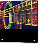 Acoustic Guitar Musician Player Metal Rock Music Color Acrylic Print