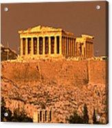 Acropolis And Parthenon From Filopappou Acrylic Print