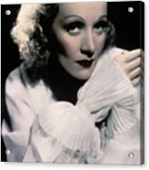 Actress And Singer Marlene Dietrich Acrylic Print