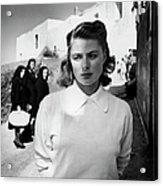 Actress Ingrid Bergman Attracting Acrylic Print