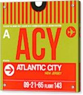 Acy Atlantic City Luggage Tag I Acrylic Print