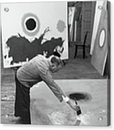 Adolph Gottlieb In His Studio Acrylic Print