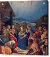 Adoration Of The Shepherds Acrylic Print