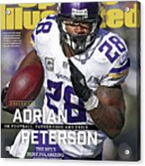 Adrian Peterson Exclusive On Football. Fatherhood And Exile Sports Illustrated Cover Acrylic Print
