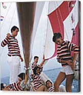 Adriatic Sailors Acrylic Print