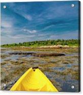 Adventurous Kayak In Maine Acrylic Print