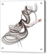Aerial Hoop Dancing Happiness Acrylic Print