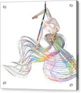 Aerial Hoop Dancing Ribbons For Her Hair Png Acrylic Print