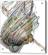 Aerial Hoop Dancing Whirlwind Of Hair Png Acrylic Print