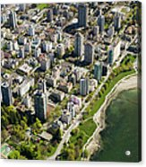 Aerial Of West End, Vancouver Acrylic Print