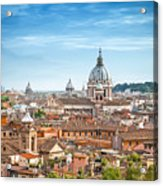 Aerial Panoramic Cityscape Of Rome Acrylic Print