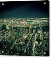 Aerial View Of Manhattan Skyline  Acrylic Print