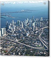 Aerial View Of Miami Acrylic Print