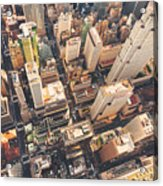 Aerial View Of Midtown Manhattan At Acrylic Print