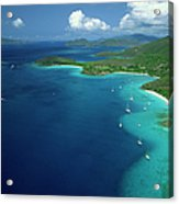 Aerial View Of Shoreline Acrylic Print