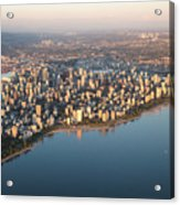 Aerial View Of Stanley Park And Acrylic Print