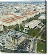 Aerial View Of The Smithsonian National Museum Of African Americ Acrylic Print