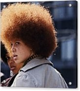 Afro Hairstyle In United States In Acrylic Print