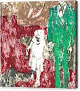 After Billy Childish Painting Otd 43 Acrylic Print