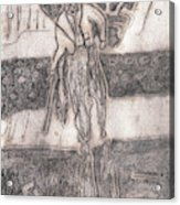 After Billy Childish Pencil Drawing 24 Acrylic Print