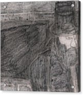 After Billy Childish Pencil Drawing 32 Acrylic Print