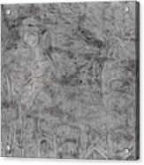 After Billy Childish Pencil Drawing 5 Acrylic Print