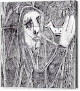 After Childish Edgeworth Pencil Drawing 10 Acrylic Print