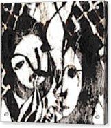 After Mikhail Larionov Black Oil Painting 14 Acrylic Print