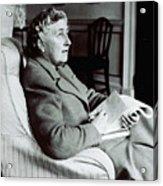 Agatha Christie Seated Acrylic Print