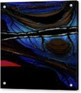 Aile De Papillon Bleu Acrylic Print