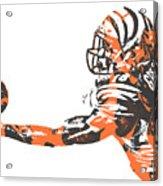 Aj Green Cincinnati Bengals Pixel Art 40 Acrylic Print