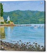 Akaroa Yacht Club Acrylic Print