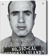 Al Capone Mugshot 1939 - T-shirt Acrylic Print
