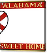 Alabama State License Plate Acrylic Print