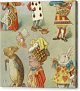 Alice In Wonderland Characters Acrylic Print
