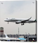 Alitalia Embraer 190 Bird Near Miss Acrylic Print