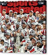 All Caps Washington Capitals, 2018 Nhl Stanley Cup Champions Sports Illustrated Cover Acrylic Print