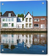 Along The Canal. Flanderenfietsroute.   Acrylic Print