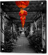 Along The Red Path Acrylic Print
