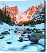 Alpenglow At Dream Lake Rocky Mountain National Park Acrylic Print