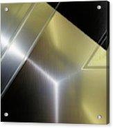 Aluminum Surface. Metallic Geometric Image.   Acrylic Print