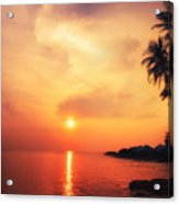 Amazing Colors Of Tropical Sunset Acrylic Print