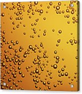 Amber Colored Carbonated Bubbles Acrylic Print